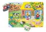Dřevěné puzzle se skrytými obrázky - Farma