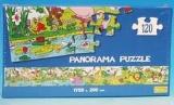 velké panorama puzzle 175 cm, 120 dílků - PLAMEŇÁCI