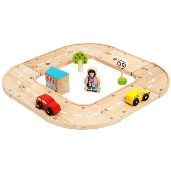 BigJigs - Moje první dřevěná autodráha