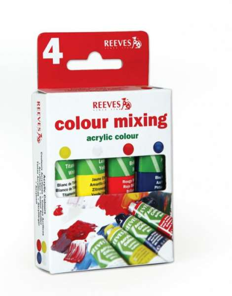 Akrylové barvy - 4 ks x 12 ml REEVES
