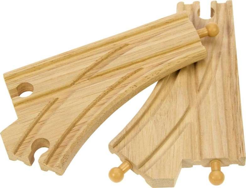BIGJIGS Výhybka 2 ks - dřevěné koleje