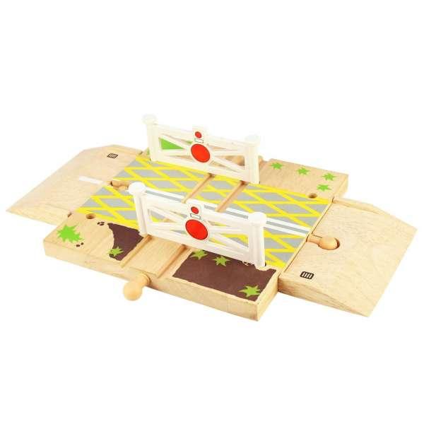 BigJigs Dřevěné vláčky, autodráhy - železniční přejezd