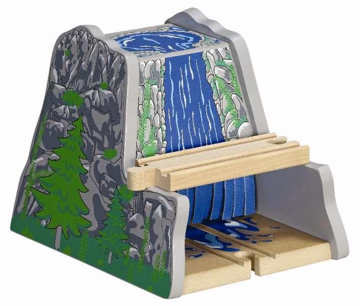 MAXIM Tunel s vodopádem - dřevěné vláčky