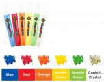 Barvičky na sklo - sada se sklíčky 6 ks VÁNOCE Amos