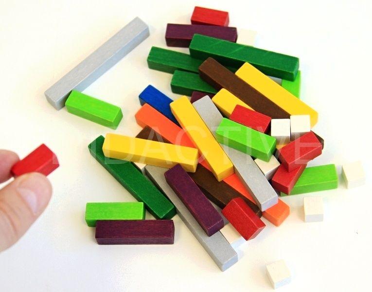 Počítací tyčinky dřevěné - vláčky (42 ks)
