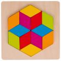 Dřevěné puzzle-mozaika Diamant