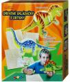 Dřevěné skládačky s obtisky Dinosauři - 3 ks v krabici