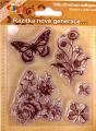 Gelová razítka S - Motýlek a květiny