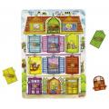 Dřevěné puzzle se skrytými obrázky - Domeček