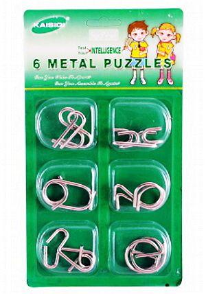 Hlavolamy kovové 2 - sada 6 ks
