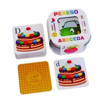 Pexeso ABECEDA v plechové krabičce