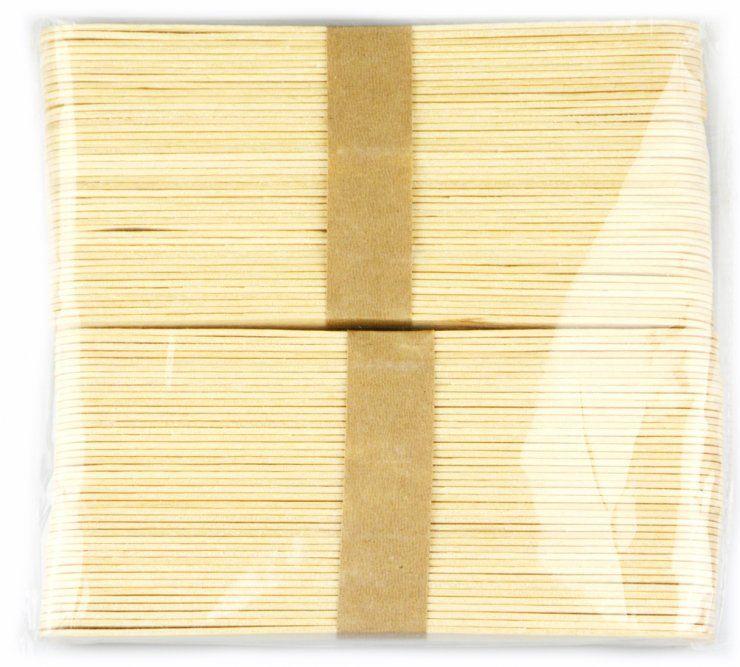 Přírodní dřívka ke tvoření - špachtle 80 ks