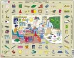 puzzle s angličtinou - VE ŠKOLE