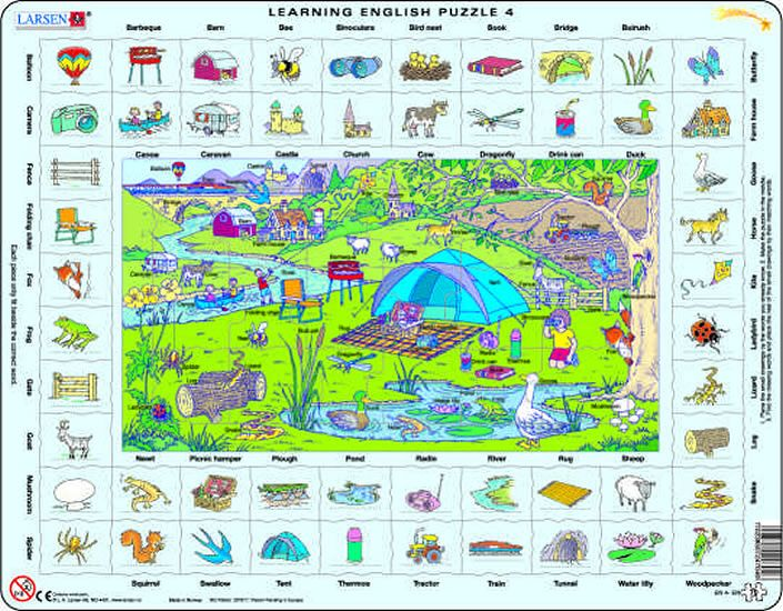 puzzle angličtina - VÝLET V PŘÍRODĚ Larsen