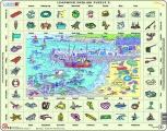 puzzle s angličtinou - U MOŘE