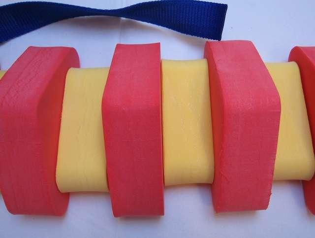 Dena PLAVECKÝ PÁS 100 cm - červená-žlutá