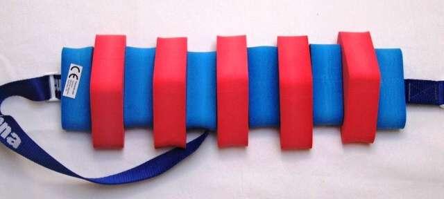 PLAVECKÝ PÁS 100 cm - červeno-modrá DENA