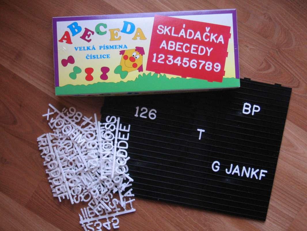SKLÁDAČKA ABC - písmena, slova Chemoplast