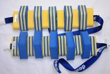 PLAVECKÝ PÁS PRUHOVANÝ - kombinace modrá-žlutá 13 dílků