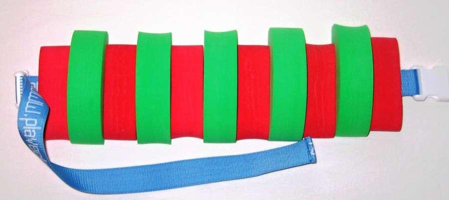 PLAVECKÝ PÁS (11 dílků) - červeno-zelený Aronet