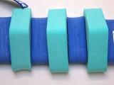 PLAVECKÝ PÁS 130 cm - modrá-zelená