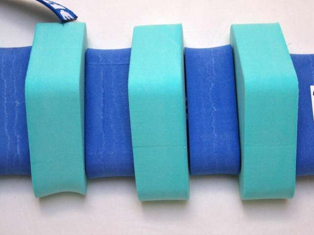 PLAVECKÝ PÁS 130 cm - modrá-zelená DENA