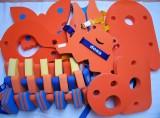 Dena PLAVECKÝ PÁS 100 cm - oranžová-zelená