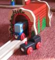 Dřevěné vláčky - inspirace Detail tunel BigJigs