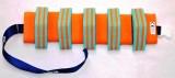 PLAVECKÝ PÁS PRUHOVANÝ - zelená-oranžová 13 dílků