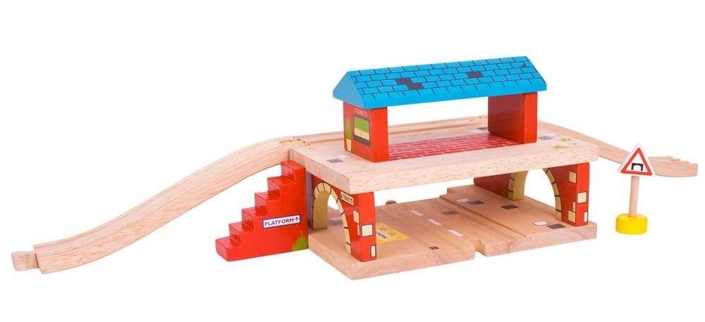 Dřevěná autodráha, vláčkodráha - STANICE BIGJIGS