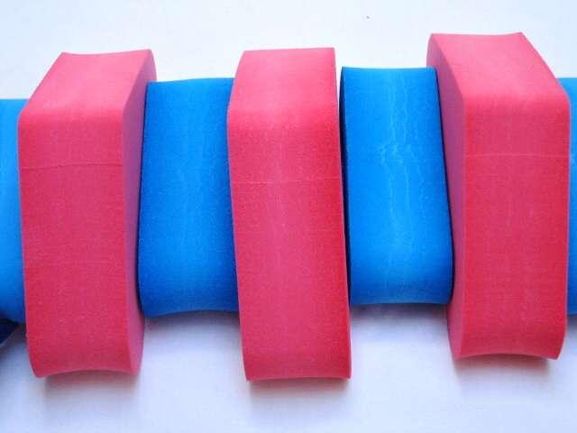 PLAVECKÝ PÁS 130 cm - červeno-modrá DENA