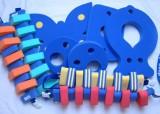 Plavecké pomůcky - tip na kombinace značka Dena - barva modrá