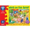 Orchard Toys, puzzle KDO SE SKRÝVÁ NA FARMĚ ?, 20 dílů