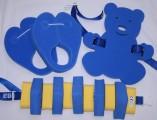 Dena PLAVECKÝ PÁS 100 cm - modrá-žlutá