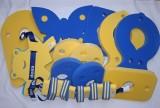 Plavecké pomůcky - tip na kombinace značka Dena - oblíbená žluto-modrá kombinace