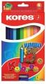 Trojhranné pastelky JUMBO s ořezávátkem