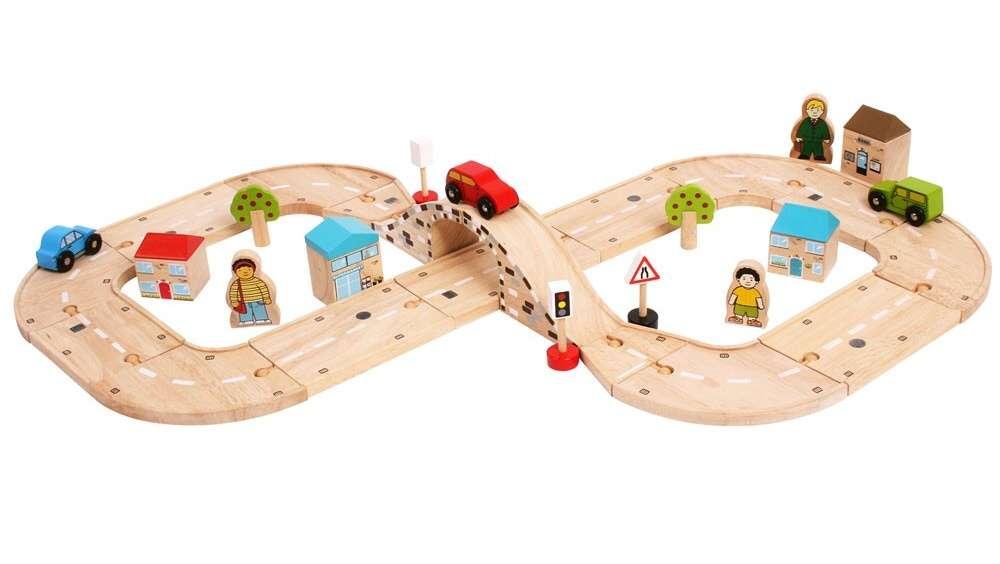BigJigs Osmička - dřevěná autodráha