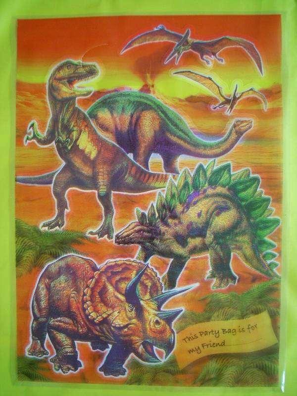 Sáčky s dinosaury - sada 3 ks