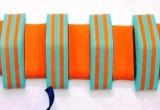 PLAVECKÝ PÁS PRUH - zelená-oranžová 11 dílků