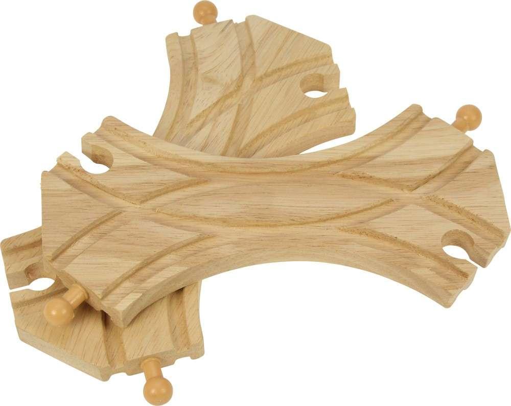 BigJigs Výhybka - spojka ovál (2 ks) - dřevěné vláčky
