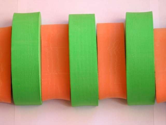 PLAVECKÝ PÁS (11 dílků) - oranžovo-zelený Aronet