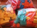 Měkké pěnové kostky 126 ks - mix 3 barev DENA