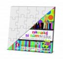 Vymaluj si vlastní puzzle - 2 x ČTVEREČEK