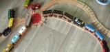 Dřevěné vláčky - inspirace Ohebná kolej + točna + spací vlak BigJigs