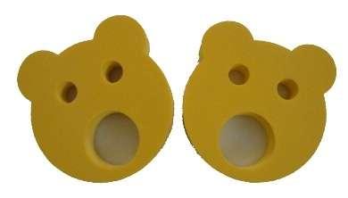 Nadlehčovací kroužky MEDVÍDEK - žluté DENA