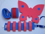 Pěnové rukávky - modré s červeným DENA