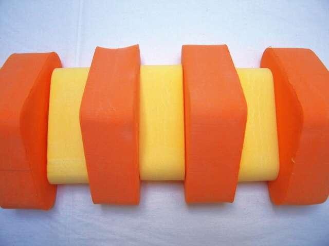 PLAVECKÝ PÁS 100 cm - oranžová-žlutá DENA