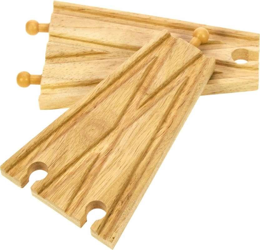 BigJigs dřevěné koleje - rovná výhybka 2 ks