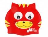 DĚTSKÁ PLAVECKÁ ČEPICE - červená kočička