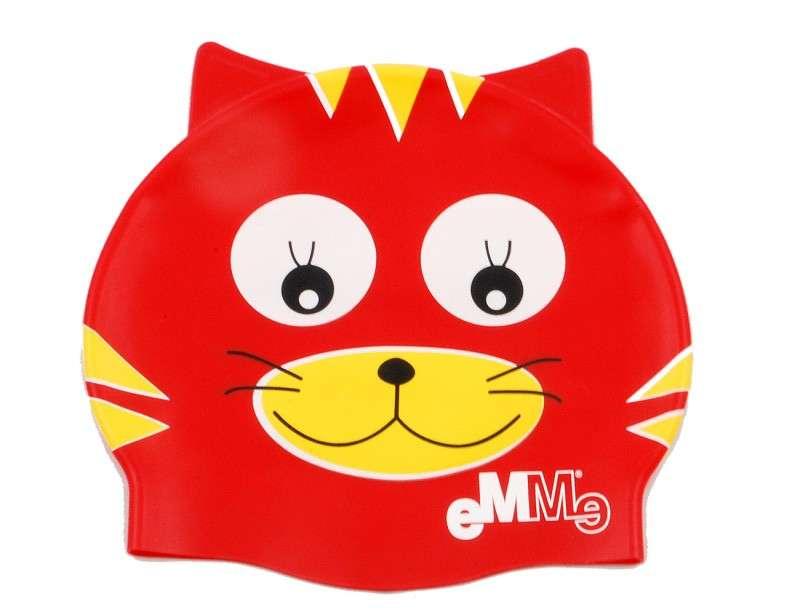 DĚTSKÁ PLAVECKÁ ČEPICE - červená kočička EMME